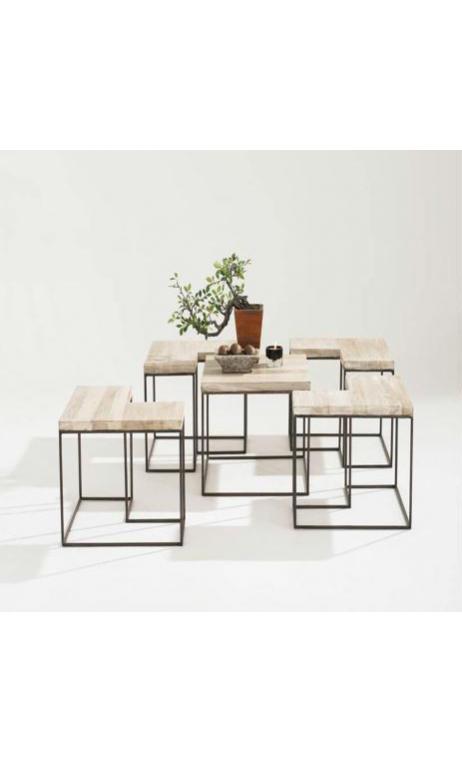 FIVE mesa de centro oscura