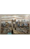 Cuadro Puente Brooklyn 3D 150x100 cm