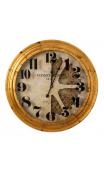 Reloj oro metal pequeño 53x8x53