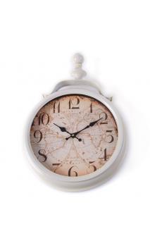 Reloj blanco metal 49x8x34
