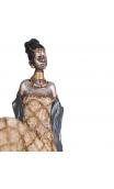 Figura africana plata antigua, 31,00x10,50x20,00 cm