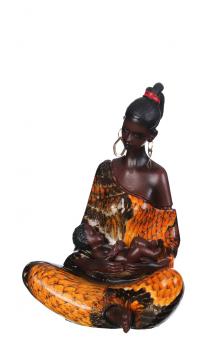 Figura Africana multicolor A, 13,00x12,00x19,00 cm