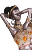 Figura africana plata antigua A, 10,00x9,00x45,00 cm
