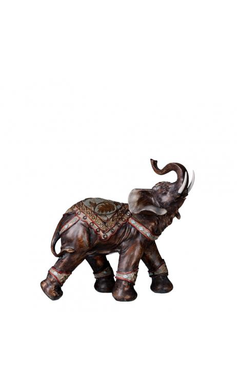Figura elefante oro antiguo 31,50x32,00x13,50 cm