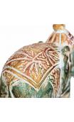 Figura elefante verde madera 25,00x11,00x19,50 cm