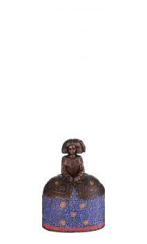 Figura Menina bronce azul Pequeña 12,00x9,50x17,00 cm