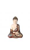 Figura Buda Grande blanco-oro 12,00x9,20x16,60 cm.