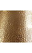 Jarrón Dorado metal Pequeño, estampado cocodrilo