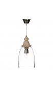 Lámpara techo transparente 18x18x38 cm