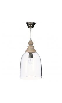 Lámpara techo transparente 22,50x22,50x39 cm