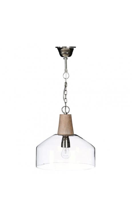 Lámpara techo transparente 30x30x31 cm