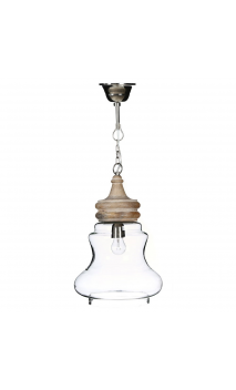 Lámpara de techo transparente 27x27x45 cm