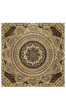 Cuadro lienzo impresión cenefa oro 80x80 cm
