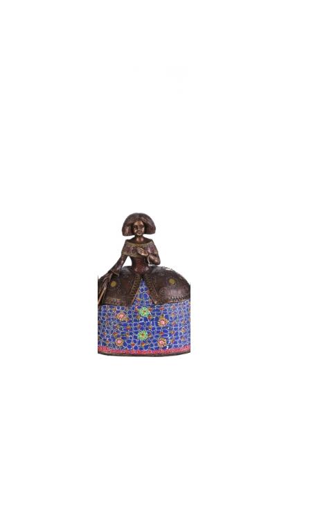 Figura Menina bronce azul oscuro Grande 17,50x11,50x22,00 cm