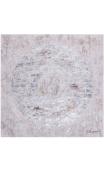 Cuadro Esfera plata-crema 100x100 cm