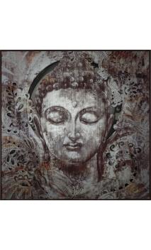 Cuadro Buda metal 100x100 cm