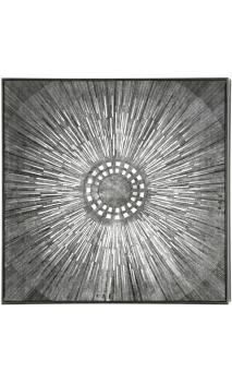 Cuadro Mandala marco plata