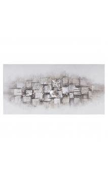 Pintura abstracto blanco gris 140