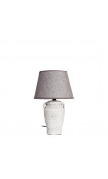 Lámpara mesa gris envejecido 36