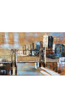 Cuadro Puente Brooklyn 3D 120 X 80 CM