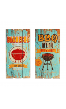 Placa pared set de 2 Multiclor DM BARBECUE