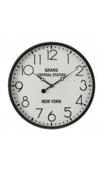 Reloj negro blanco metal 51x51