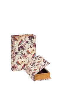 Set 2 Cajas Libro Pájaros