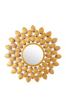 Espejo oro metal/ cristal 68x68