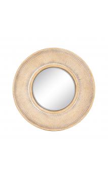 Espejo marrón blanco metal/ cristal 68x68
