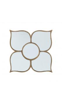 Espejo oro resina 21x21 A