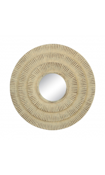 Espejo crema resina 25x25 A
