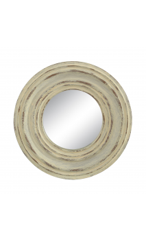 Espejo crema resina 25x25 B