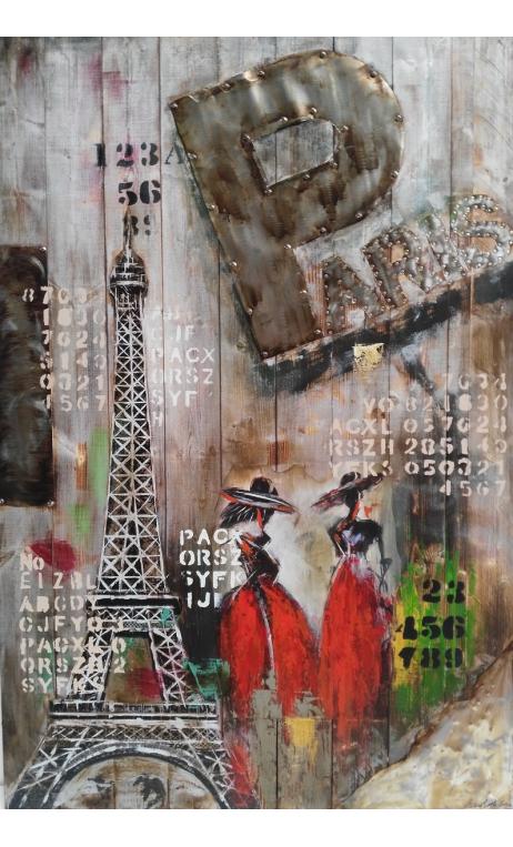 Cuadro París 3D 150x100 cm