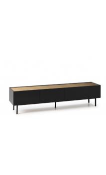 Mueble TV ARISTA 180x40x45cms negro