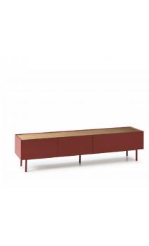 Mueble TV ARISTA 180x40x45cms rojo