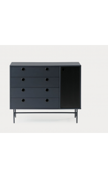 Cómoda PUNTO 97x45x80 cms negro y azul oscuro