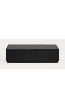 Mesa de centro DORIC 110X60X28 cms Negro/Gris antracita