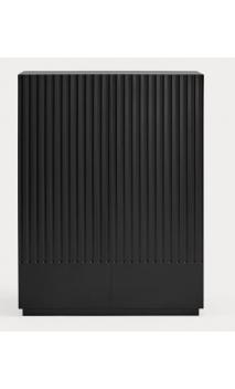 Mueble auxiliar DORIC 91x48x120 cms Negro/Gris antracita