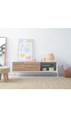 Mueble TV FOLKE 167x40x69 blanco/fresno