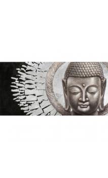 Cuadro Buda Silver 70x140 cm