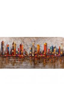 Cuadro Ciudad Color 140x70 cm