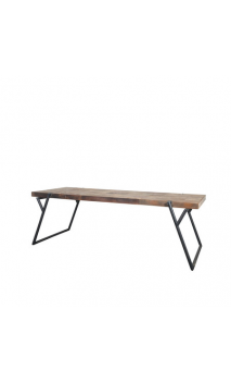 PURE mesa de comedor pata inclinada
