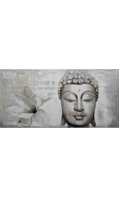 Cuadro Buda piedra verde 60x120 cm