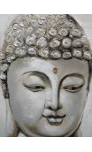 Cuadro Buda piedra naranja 60 x120 cm