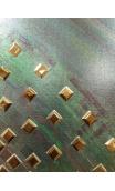 Cuadro Sol verdoso 90x90 cm