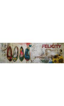 Cuadro Zapatos Felicity 50x150 cm