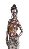 Figura africana plata B, 9,00x7,50x40,00 cm