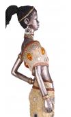 Figura africana plata B, 10,00x9,00x45,00 cm