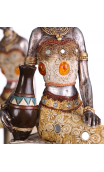 Figura africana plata antigua B, 15,00x10,50x35,00 cm