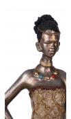 Figura africana A, 8,50x6,50x35,00 cm